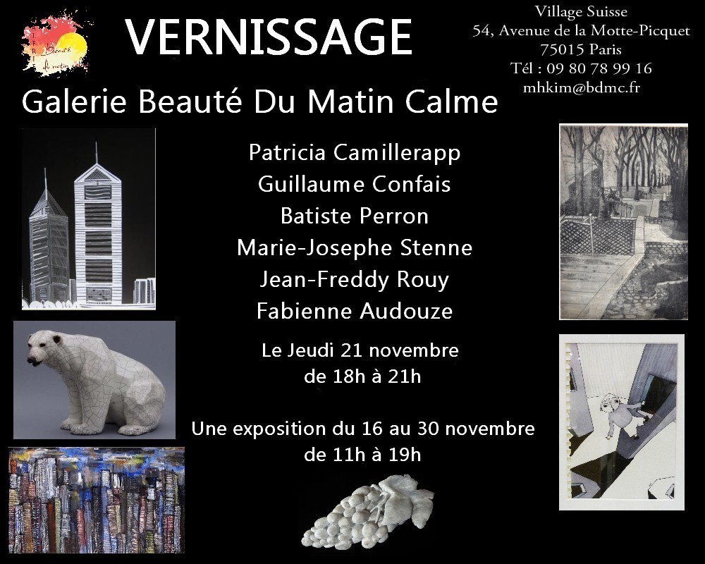 Vernissage BDMC November 21st